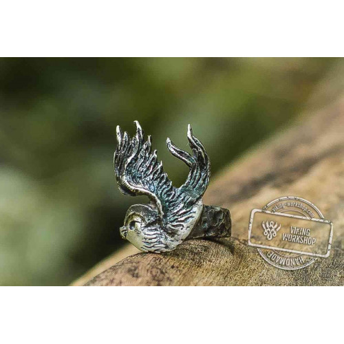 Bird Sterling Silver Animal Ring Unique Jewelry