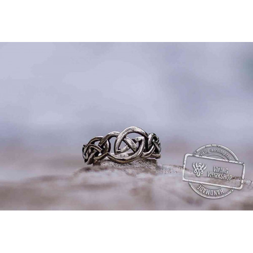 Celtic Ornament Ring Sterling Silver Handcrafted Celtic Jewelry