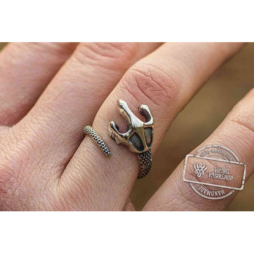 Dragon Paw Ring Sterling Silver Ring Handcrafted Pagan Jewelry