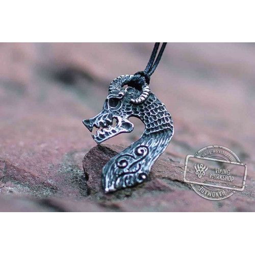 Drakkar Pendant Sterling Silver Unique Viking Ship Necklace