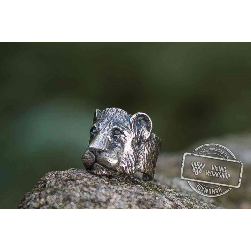 Small Lion Sterling Silver Animal Ring Handcrafted Jewelry
