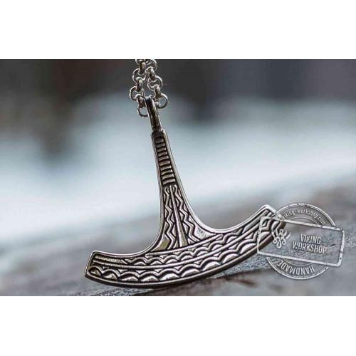 Ukko Thor's Hammer Pendant Sterling Silver Mjolnir