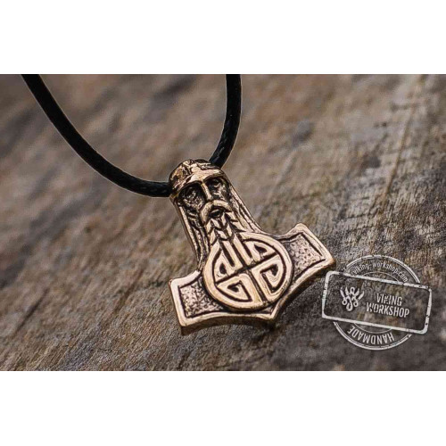 Thor's Hammer Pendant Bronze Mjolnir with Viking