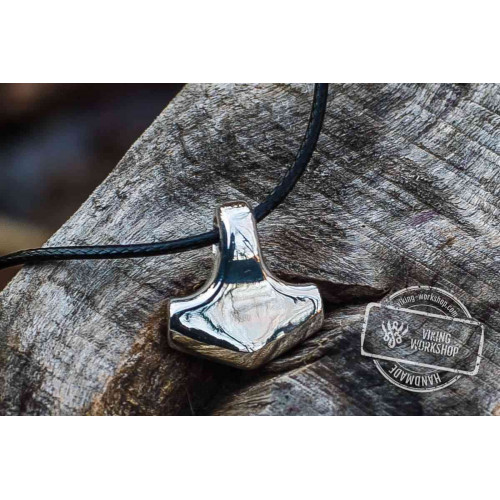 Thor's Hammer Pendant Sterling Silver Mjolnir Smooth Style
