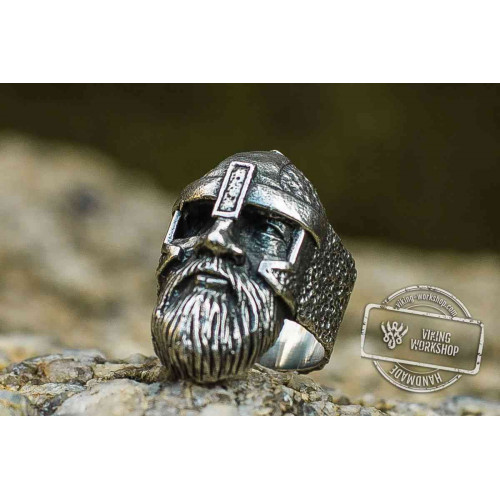 Odin Allfather Sterling Silver Unique Viking Ring Norse Jewelry