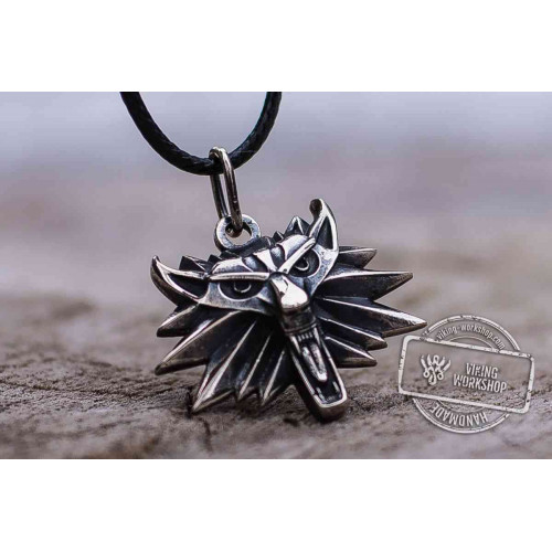 Witcher Wolf School Pendant Sterling Silver Unique Wolf Amulet