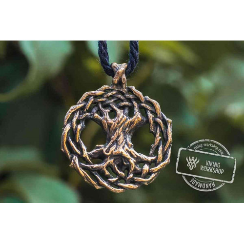 Yggdrasil World Tree Bronze Pendant Viking Jewelry