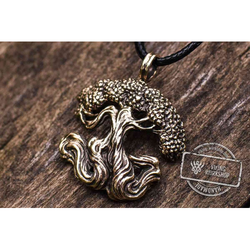Yggdrasil World Tree Bronze Pendant Norse Jewelry