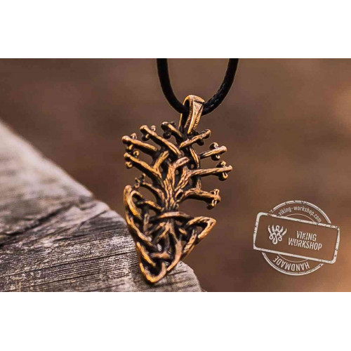Yggdrasil World Tree Bronze Pendant Handmade Viking Jewelry