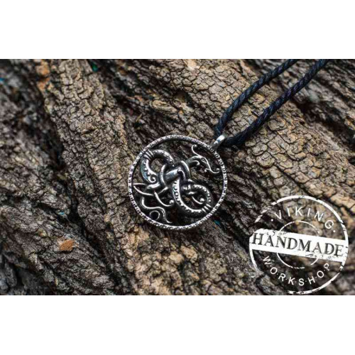 Ouroboros Sterling Silver Pendant Viking Amulet