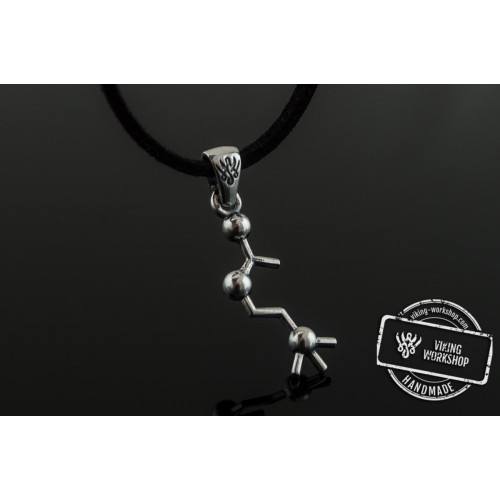 Acetylcholine Symbol Pendant Sterling Silver Handmade Jewelry