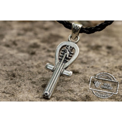 Ankh Symbol Pendant Sterling Silver Egypt Jewelry