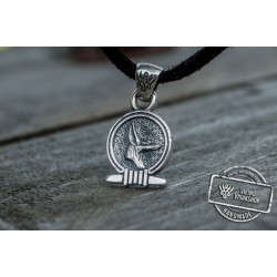 Anubis Amulet Pendant Sterling Silver Egypt Unique Jewelry
