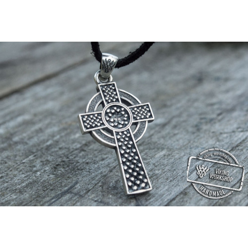 Celtic Cross with Ornament Pendant Sterling Silver Jewelry
