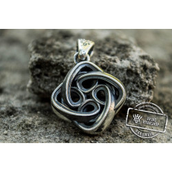 Celtic Knot Ornament Sterling Silver Pagan Pendant