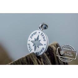 Compass Pendant Sterling Silver Unique Handmade Jewelry V02