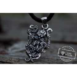 Kraken Symbol Pendant Sterling Silver Norse Jewelry