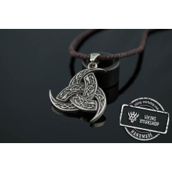 Odin Horn Pendant  Sterling Silver Unique Jewelry