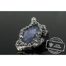 Unique  Pendant with Gem Sterling Silver Handcrafted Jewelry
