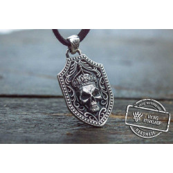 Pendant with Skull Sterling Silver Handmade Jewelry