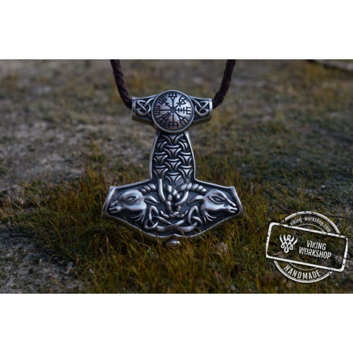 Thor's Hammer Pendant Sterling Silver Mjolnir from Sterling Silver Norse Jewelry