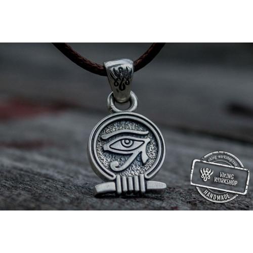 Uajet Amulet Pendant Sterling Silver Egypt Unique Jewelry