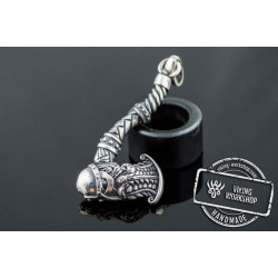 Viking Axe Pendant Sterling Silver Norse Jewelry