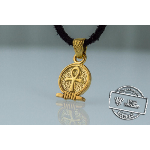 Ankh Amulet Pendant Gold Egypt Unique Jewelry