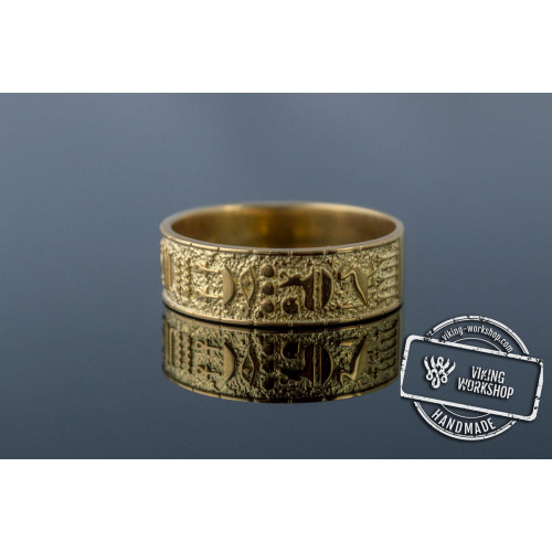 Egypt Symbol Ring Gold Unique Handmade Jewelry