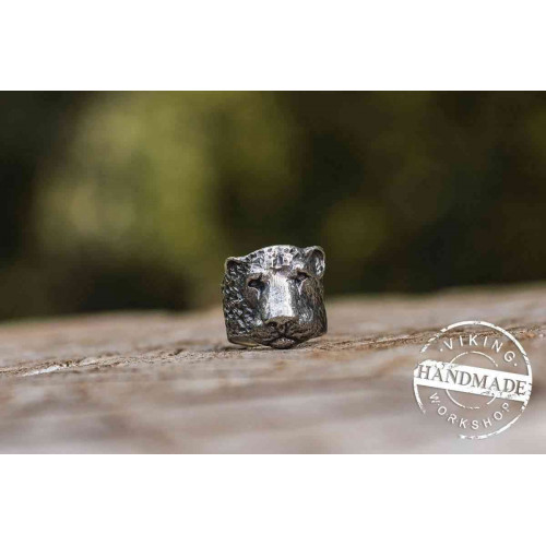 Lion Sterling Silver Animal Ring Handcrafted Jewelry