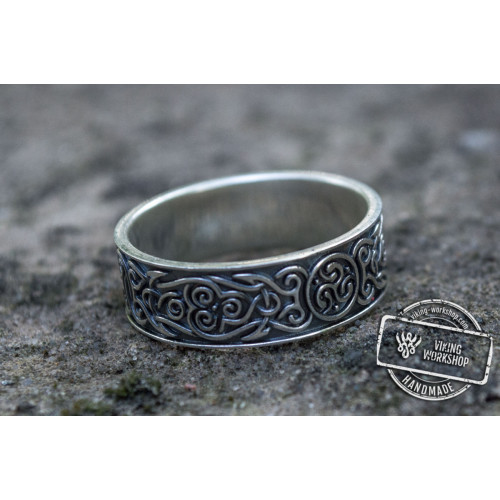 Ornament Style Ring Sterling Silver Handmade Jewelry