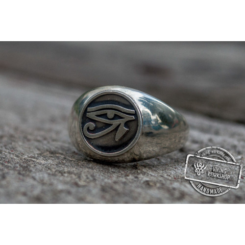 Ring With Uajet Symbol Sterling Silver Egypt Jewelry