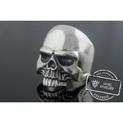 Skull Ring Sterling Silver Unique Biker Jewelry