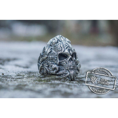 Skull Ring Sterling SilverUnique Handmade Jewelry