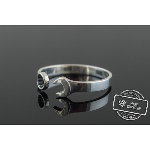Spanner Ring Sterling Silver Unique Handmade Jewelry
