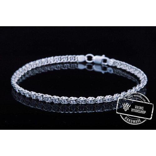 Handmade Bracelet with White Cubic Zirconia Sterling Silver Jewelry