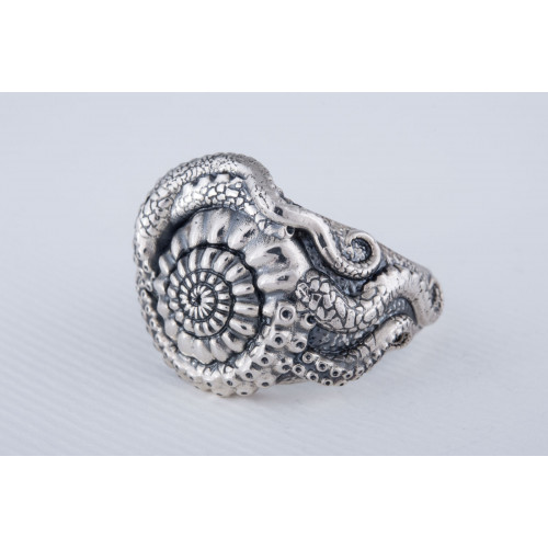 Handcrafted Shell Ring Sterlimg Silver Unique Jewelry