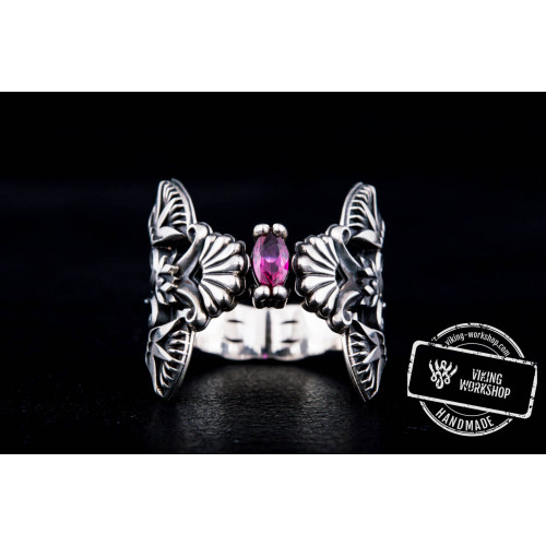 Egypt Ring with Cubic Zirconia Sterling Silver Jewelry