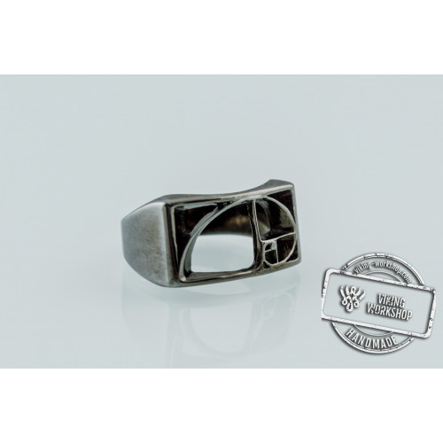 Golden Triangle Ring Ruthenium Plated Sterling Silver Black Limited Edition Jewelry