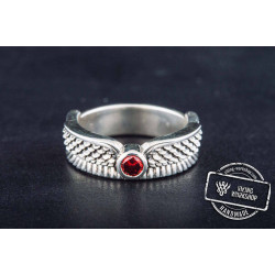 Isida Ring with Cubic Zirconia Sterling Silver Egypt Jewelry