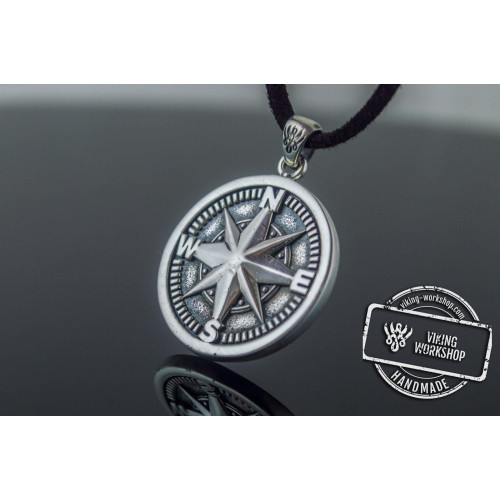 Compass Pendant Handmade Starling Silver Jewelry