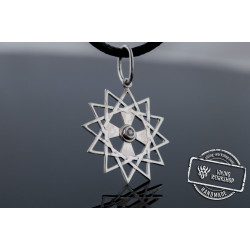 Star Pendant with Cubic Zirconia Sterling Silver Handmade Jewelry