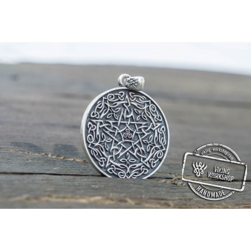 Wicca Symbol Pendant Sterling Silver Handmade Jewelry