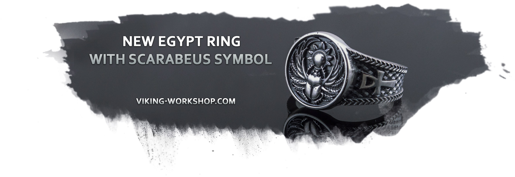Ring With Scarabeus Symbol