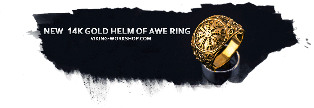14k black sun ring by viking-workshop.com