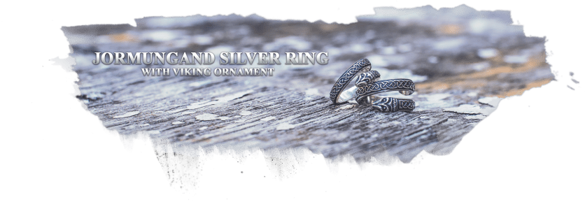 Jormungand Ring with Viking Ornament