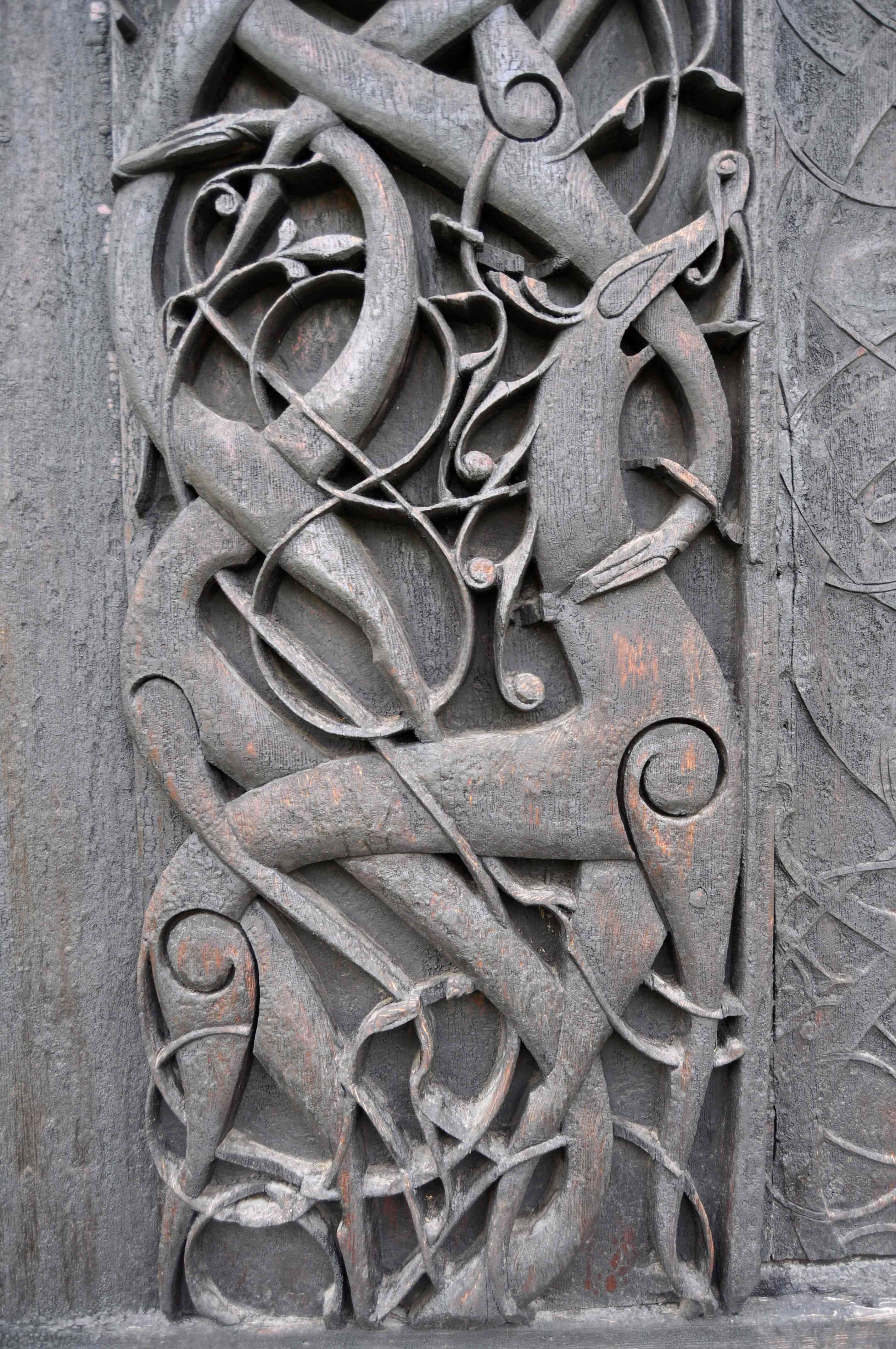 Urnes Stave Church carving-3